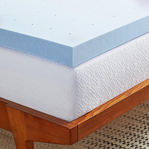 Blue gel-infused mattress topper photo