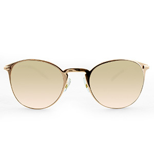 Women's Metal Clubmaster Rose Gold Sunglasses photo