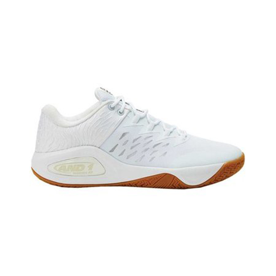 AND1 Men's Attack Low Basketball Shoe in White photo
