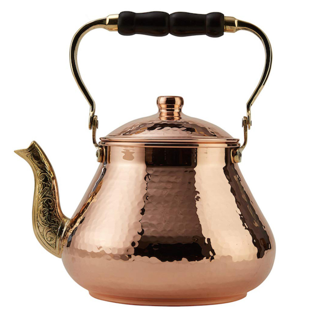 DEMMEX Handmade Turkish Hammered Copper Tea Kettle from Amazon photo