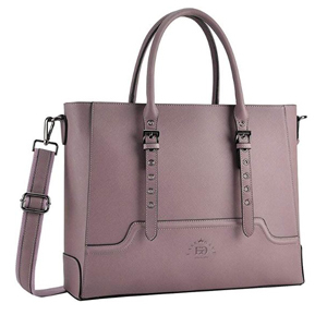 Purple briefcase with multiple pockets photo
