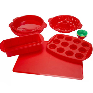 Set of 18 silicone baking molds from Wayfair photo