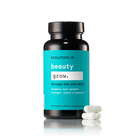 EVOLUTION_18 Beauty Hair and Nail Growth Capsules with Collagen, Biotin, and Keratin, 20 Servings photo