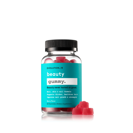 EVOLUTION_18 Beauty Hair and Nail Growth Gummy with Biotin and Keratin, Berry, 30 Servings photo