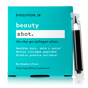Collagen boosting shot with berry flavoring photo
