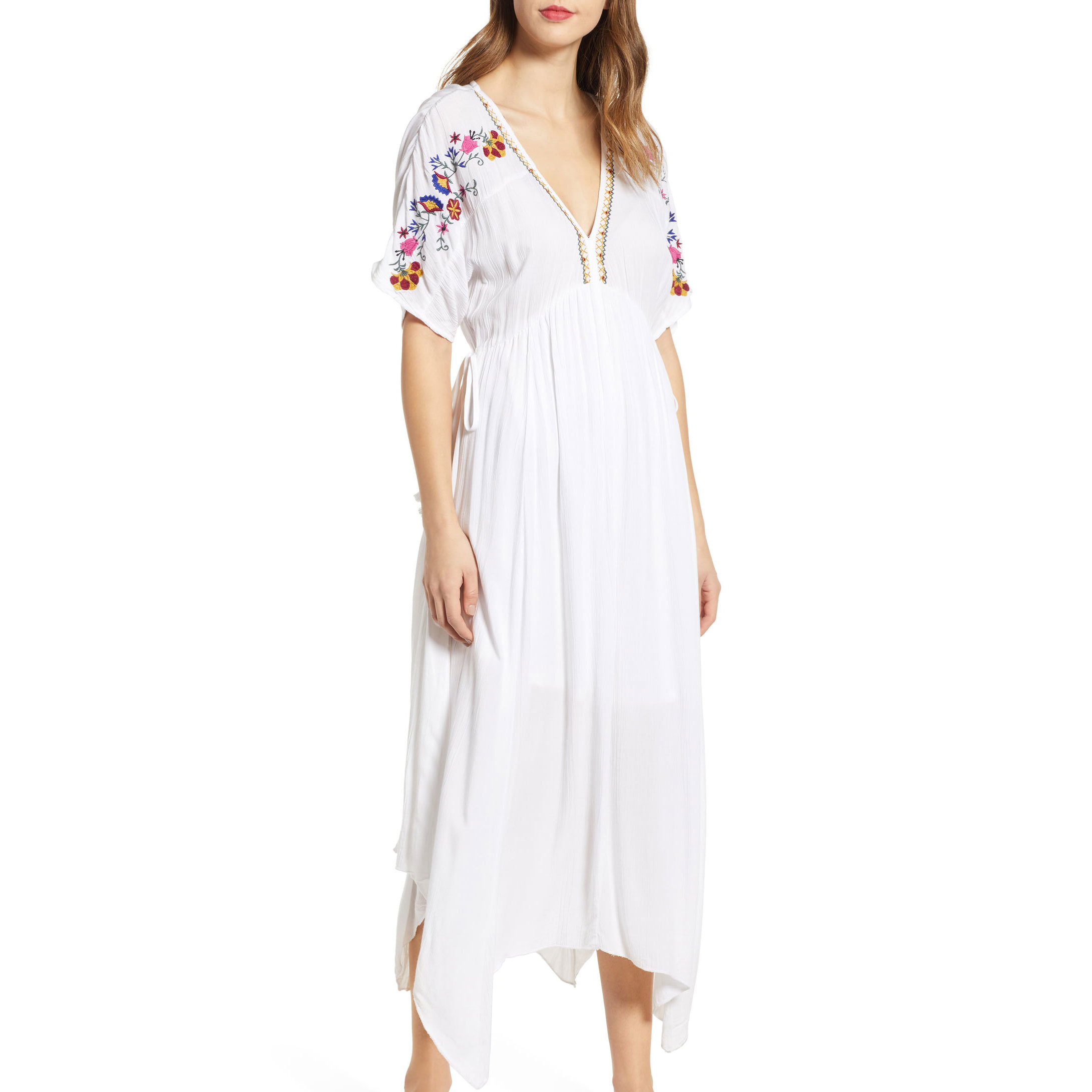 Band of Gypsies Cuba Embroidered Midi Dress Nordstrom photo