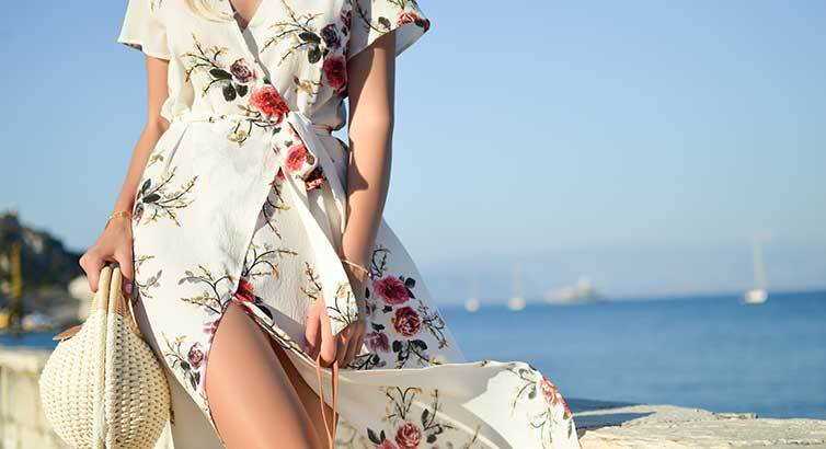Insanely Gorgeous Dresses to Wear to a Beach Wedding (That Won't Upstage the Bride)