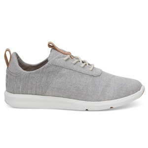 Grey chambray sneakers by Toms photo