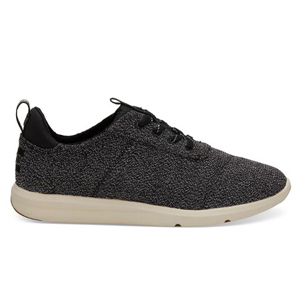 Black speckled sneakers by TOMS photo