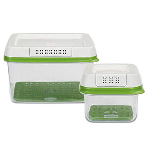 Set of two produce food storage containers photo