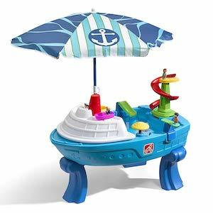 Step2 Fiesta Cruise Sand & Water Table with Umbrella Play photo
