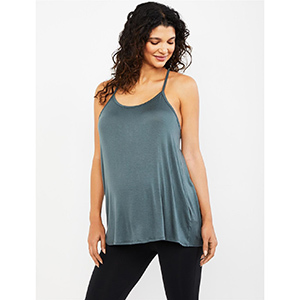 A Pea in the Pod Beyond the Bump Back Detail Maternity Tank Top photo
