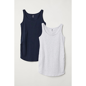 H&M MAMA 2 Pack Jersey Tank Tops photo