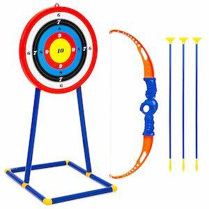 Best Choice Products Kids Toy Archery Set w/ Bow, Arrows and Bullseye Target photo