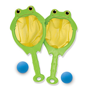 Melissa & Doug Sunny Patch Froggy Toss and Catch Net Game photo