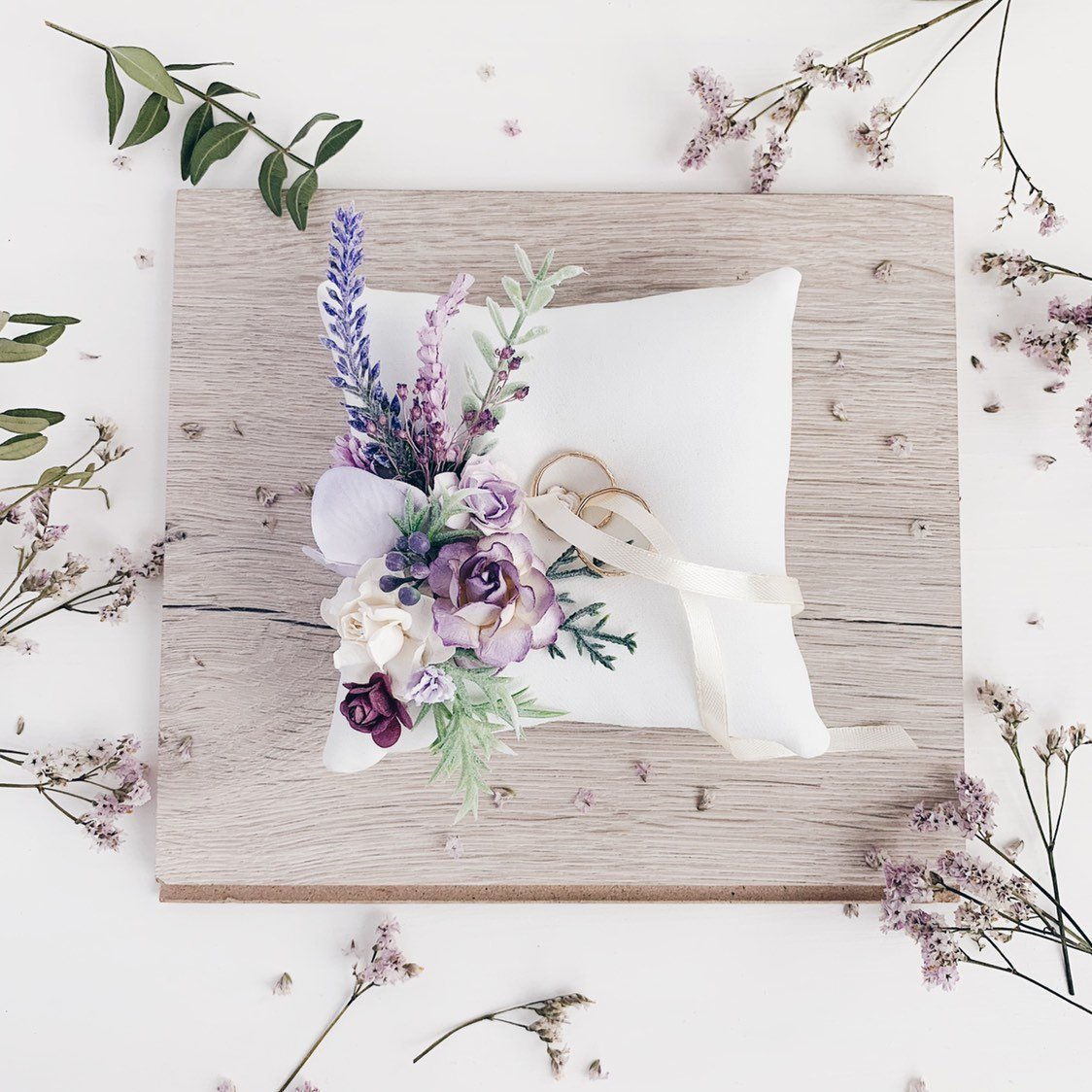Serenity Lavender Lilac Ring Bearer Pillow Etsy photo