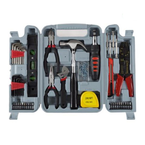 100-Piece hand tool set inside a carrying case photo