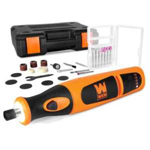 Cordless rotary tool kit including 24 accessories photo