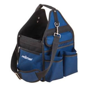 Blue and black tote bag for tools photo
