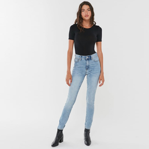 Light-wash high-waist skinny jeans from Urban Outfitters photo