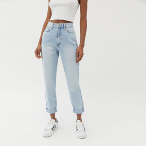 Bleached wash mom jeans from Urban Outfitters photo