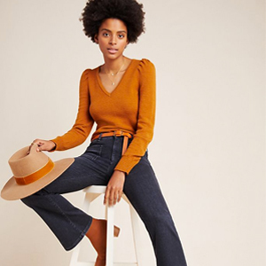 Boot-cut flare jeans from Anthropologie photo