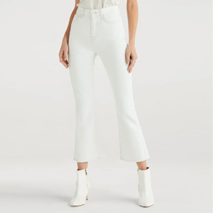 White slim fit kick hem jeans from 7 For All Mankind photo