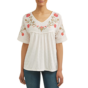 White embroidered womens' Tried and Tru t-shirt photo