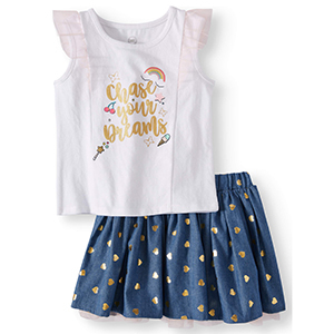 Girls tank top and tutu set including a white tank that says