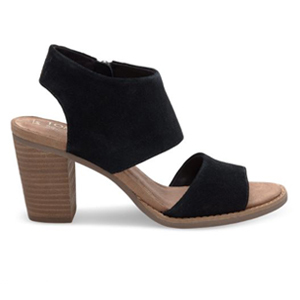 black and brown suede cutout sandals photo