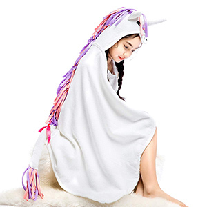 Famfun Baby Unicorn Hooded Beach Towel for Toddlers and Kids photo
