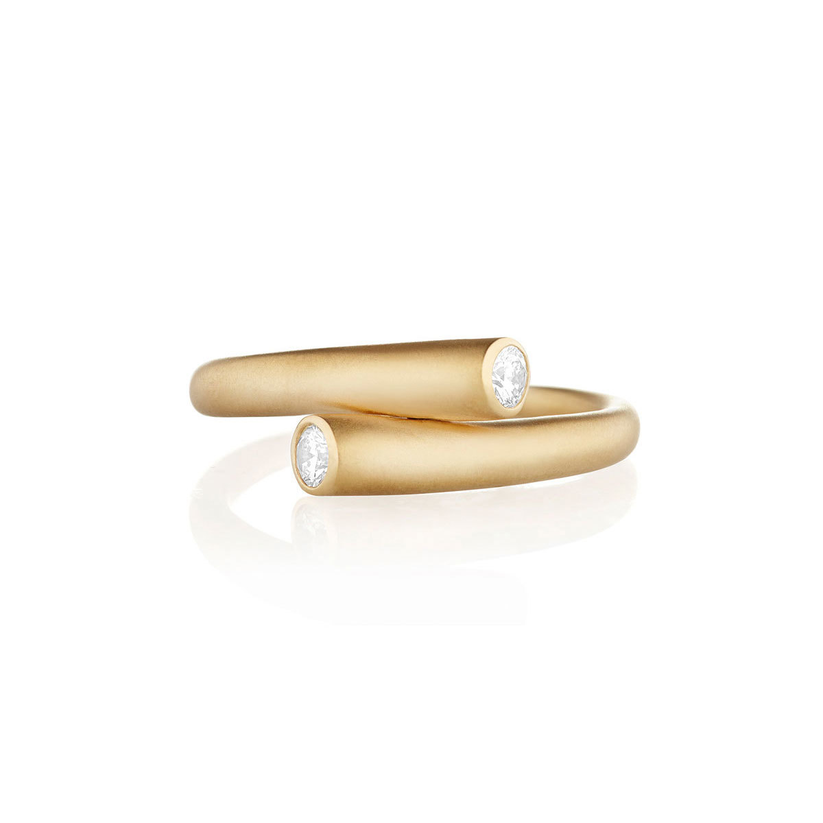Carelle Whirl 18k Gold 2-Diamond Ring from Neiman Marcus photo
