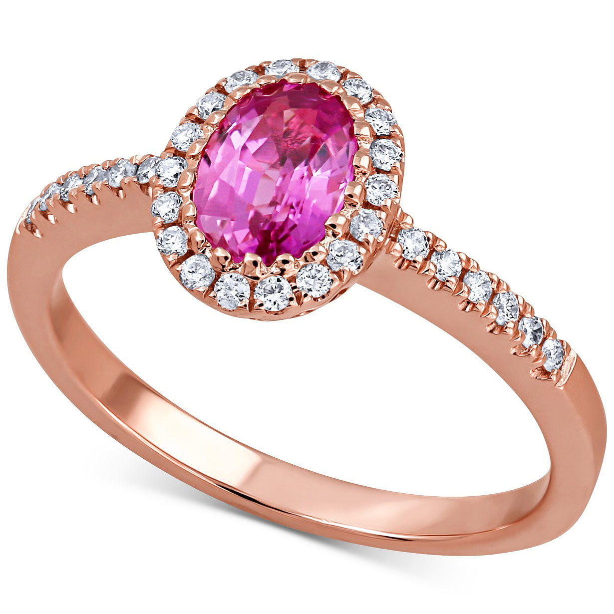 Macy's Pink Sapphire & Diamond Ring in 14k Rose Gold from Macys photo
