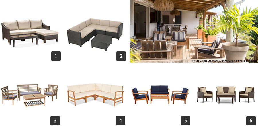 Houzz Memorial Day sales on outdoor sofas and sectionals photo