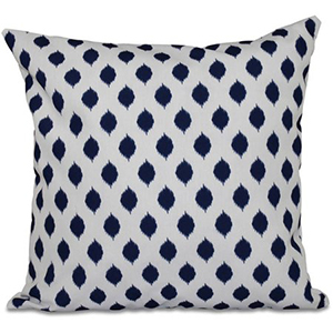 Navy blue and white geometric pattern pillow photo