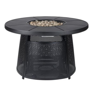 Black outdoor fire pit from Walmart photo