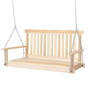 Wooden porch swing from Walmart photo