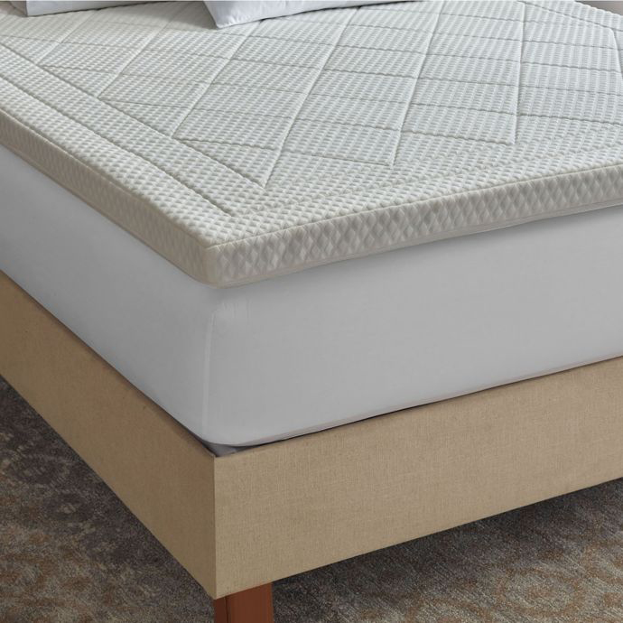 Therapedic® Quilted Deluxe 3-Inch Memory Foam Queen Bed Topper photo