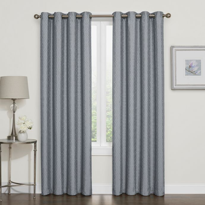 Darcy 100% Blackout Grommet Top Window Curtain Panel photo