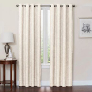 Full-length blackout curtains in ivory from Bed Bath and Beyond photo
