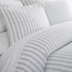 Gray and white striped duvet cover photo