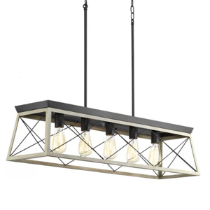 Rectangle kitchen light with five bulbs photo