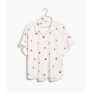 Madewell Embroidered Hilltop Shirt in Confetti Floral photo