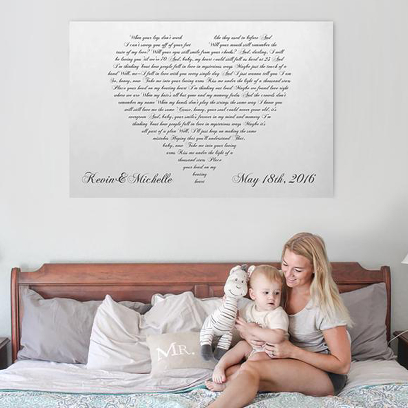 Canvas Vows or First Dance Song Etsy photo