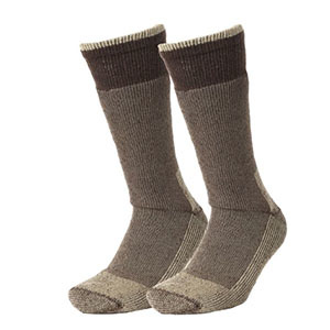 Brown and beige ankle-high socks photo