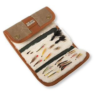 Brown leather fishing lure wallet photo