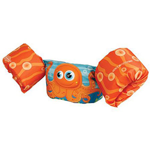 Orange Puddle Jumper life vest with an octopus on the front photo