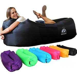 Inflatable air sofa hammock lounger in multiple colors photo