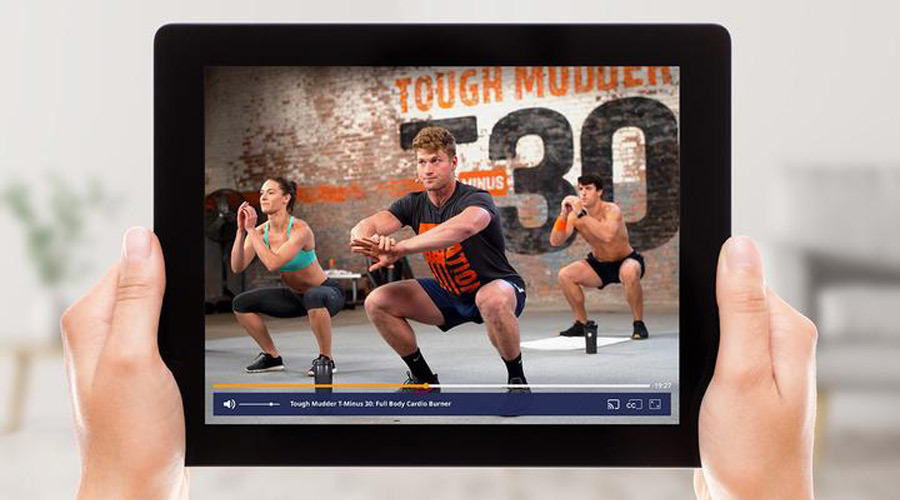 T-MINUS 30 workouts being streamed on a tablet photo