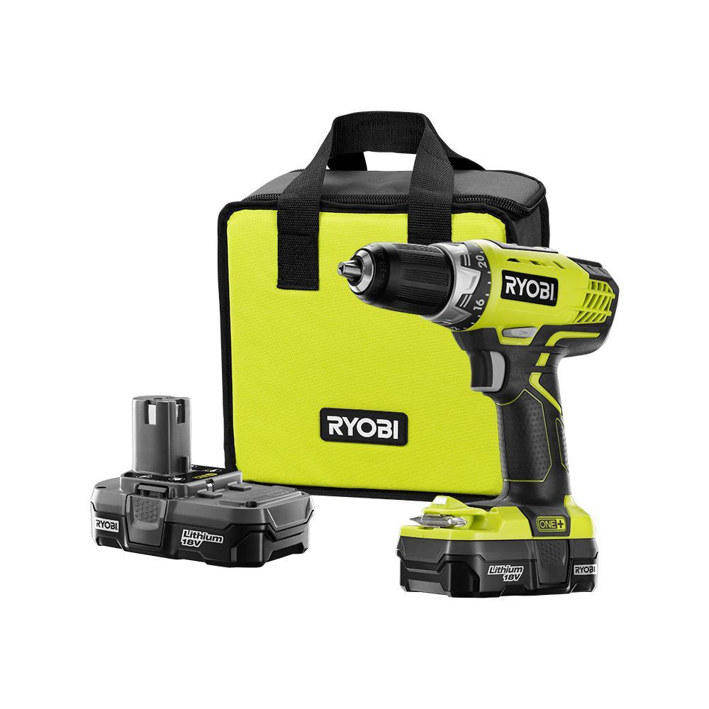 18 Volt ONE+ Lithium-Ion Cordless Compact Drill Driver Kit photo